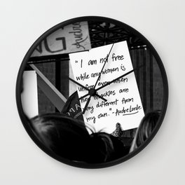 WOMEN'S MARCH 2018 Wall Clock