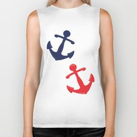 anchors Biker Tanks featuring Anchors by Indulge My Heart