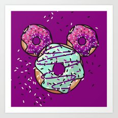 Pop Donut -  Berry Frosting Art Print