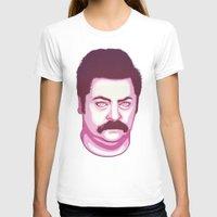 ron swanson T-shirts featuring Ron Swanson by Kristjan Lyngmo