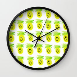 Happy Pineapple Attack Wall Clock