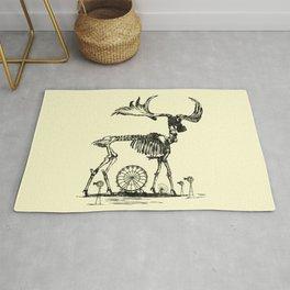Gas Mask Deer Rug