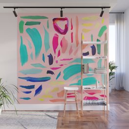 Brush Gems 1 - A deconstructed painting Wall Mural