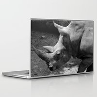 rhino Laptop & iPad Skins featuring rhino by Cindy Munroe Photography