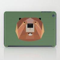 beaver iPad Cases featuring Beaver by Alysha Dawn