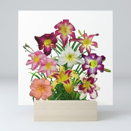 Celebration of daylilies II, Hemerocallis flowers Mini Art Print