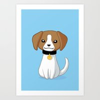 beagle Art Prints featuring Beagle by Freeminds