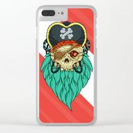 Pixel Pirate Clear iPhone Case