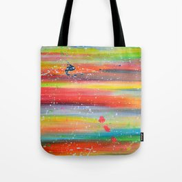 Acrylic Abstract Paint Splatter Tote Bag