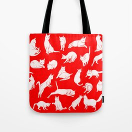 Catwalk (in red) Tote Bag