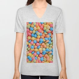Sweet & Sour Pastel Candy Tarts Pattern Unisex V-Neck