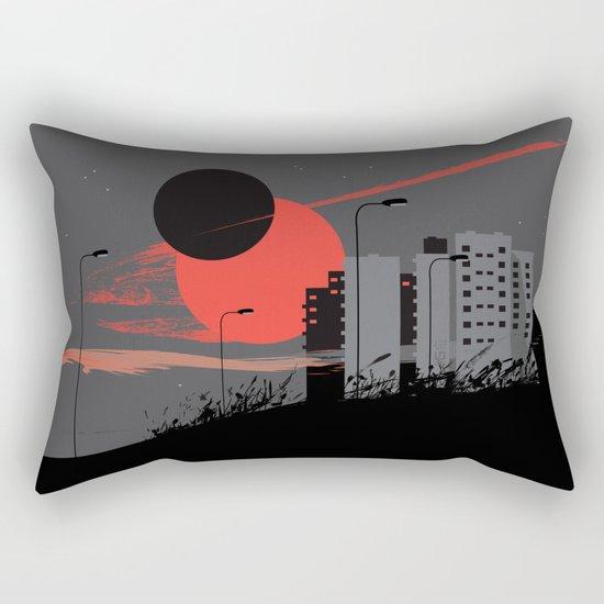 apocalypse city Rectangular Pillow