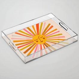 Sunshine – Retro Ochre Palette Acrylic Tray