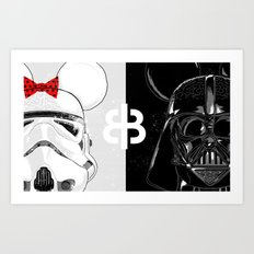 Mini Trooper vs. Vader Mouse Art Print