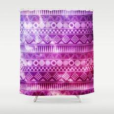 Tribal Fuschia.  Shower Curtain