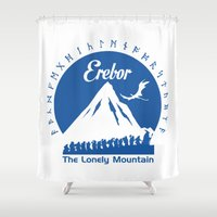 nori Shower Curtains featuring Erebor by Gabartist