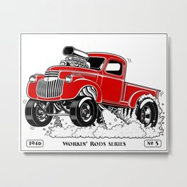 1946 Chevy Pick-up – RED Metal Print