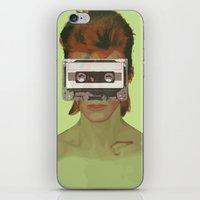 aladdin iPhone & iPod Skins featuring Taped Over Aladdin Sane by AudioVisuals