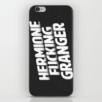 hermione iPhone & iPod Skins featuring Hermione Fucking Granger by mgietzel