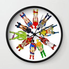 Superhero Butts LV Wall Clock