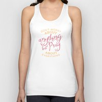 pocketfuel Tank Tops featuring PRAYER OVER WORRY by Pocket Fuel