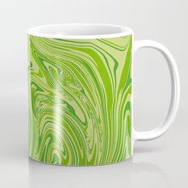 Abstract liquid green marble texture Coffee Mug
