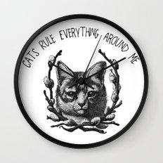 C.R.E.A.M. (In a saucer, kthxbai) Wall Clock