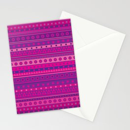 Purple and Pink Stripy Pattern Stationery Cards