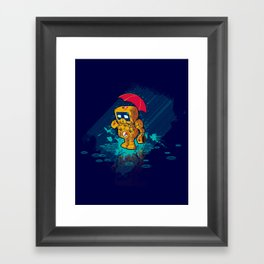TINY ROBOT Framed Art Print