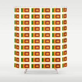 flag of sri lanka- ශ්රී ලංකා,இலங்கை, ceylon,Sri Lankan,Sinhalese,Sinhala,Colombo. Shower Curtain