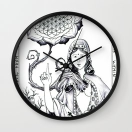 The Flower Inside (Insight Icon) Wall Clock