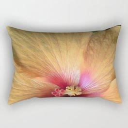 Orange Hibiscus Ruffle Rectangular Pillow