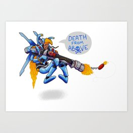 Death From Above! Art Print
