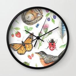 Flora and Fauna of Summer Wall Clock