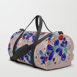 Folk Spring Flowers blooms - number1 Duffle Bag
