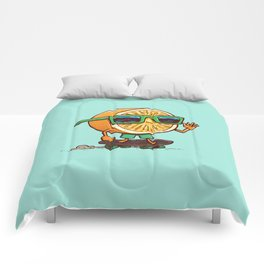 The Orange Skater Comforters