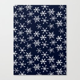 SOWFLAKES - BLUE Canvas Print