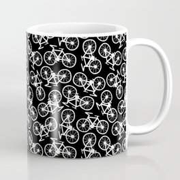 Bicycles Doodle on Black Coffee Mug