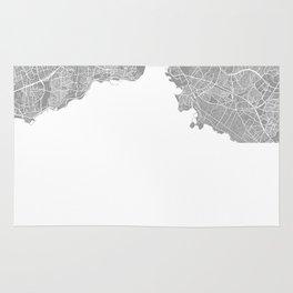 Istanbul map grey Rug