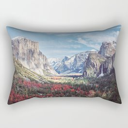 Tunnel View Yosemite Valley Rectangular Pillow