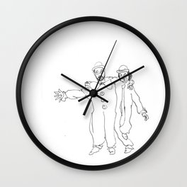 Clown Parents Wall Clock