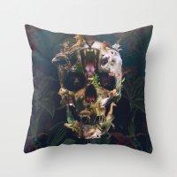 kingdom hearts Throw Pillows featuring Kingdom by Ali GULEC
