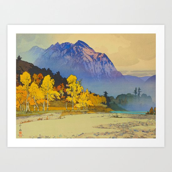 Vintage Japanese Woodblock Print American Landscape Hiroshi Yoshida by enshape