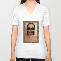 mustache V-neck T-shirts featuring mustache~ by Michal
