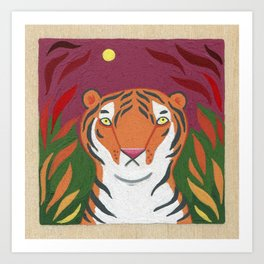 Fire Tiger Art Print