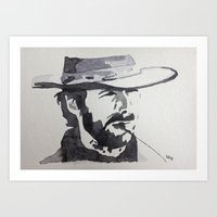 clint eastwood Art Prints featuring Clint Eastwood by sohsacaro