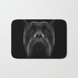Cane Corso dog low poly. Bath Mat