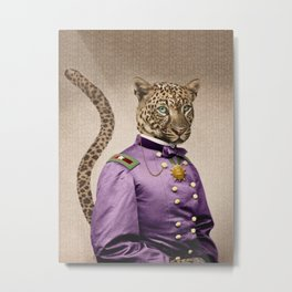 Grand Viceroy Leopold Leopard Metal Print