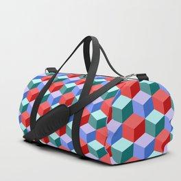 Cubic pattern Duffle Bag