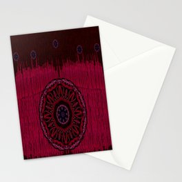 Leather landscape abstracte Stationery Cards